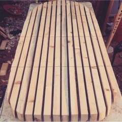 Cut rough shape. Hollow boards.
