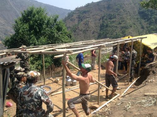 Rebuilding. Sean (middle). Ben (right).