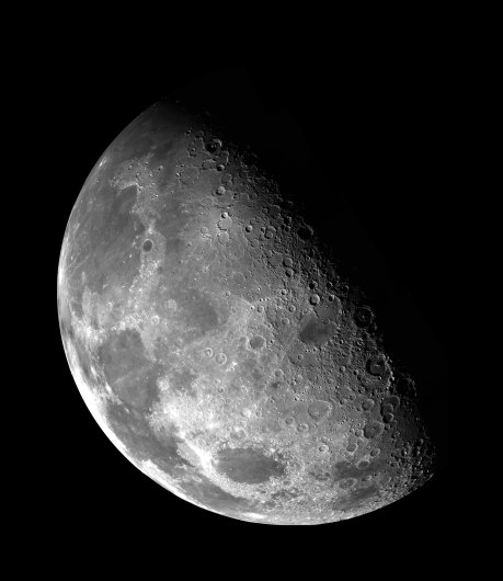 Tidal forces have locked the rotation of Moon to that of Earth. As a result the same side of the moon is always facing Earth, and a day on the Moon is a month long.