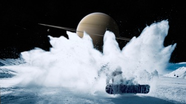 Throwing water vapor to the moon's atmosphere.