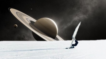 Wind-surfing Enceladus.